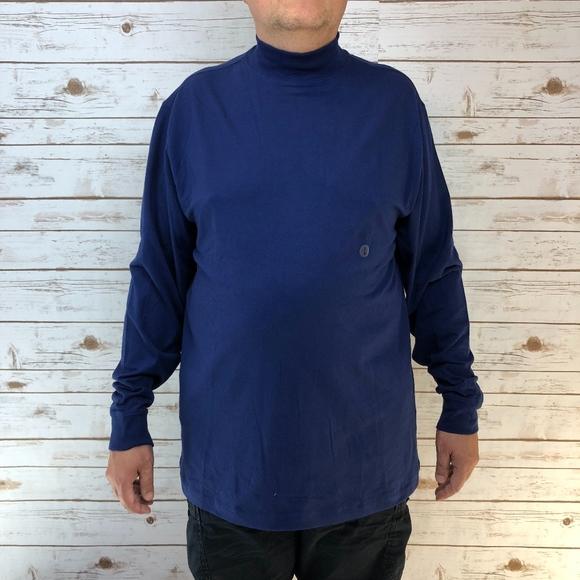 1bbbbe77fe5ff0 Saddlebred Flex Carbon Stretch Mock-Neck Blue Top